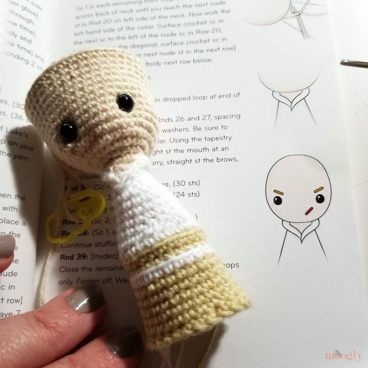 Star Wars Crochet Finger Puppets Review and Giveaway - Luke in progress
