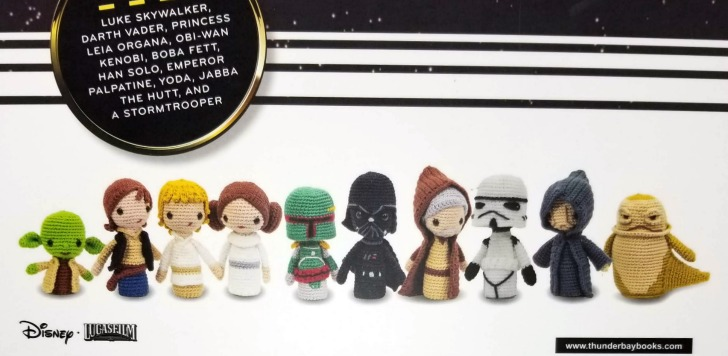 Star Wars Crochet Finger Puppets Review and Giveaway - back of box