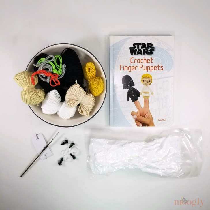 Star Wars Crochet Finger Puppets Review and Giveaway - what's included in the kit