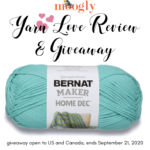 Bernat Maker Home Dec: Yarn Love Review and Giveaway