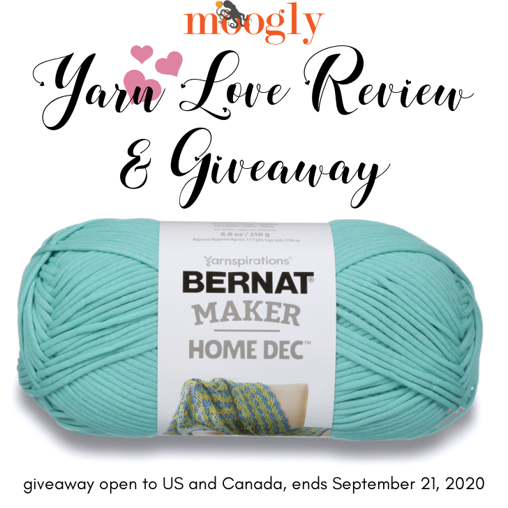 Bernat Maker Home Dec Yarn Love Review and Giveaway - Moogly