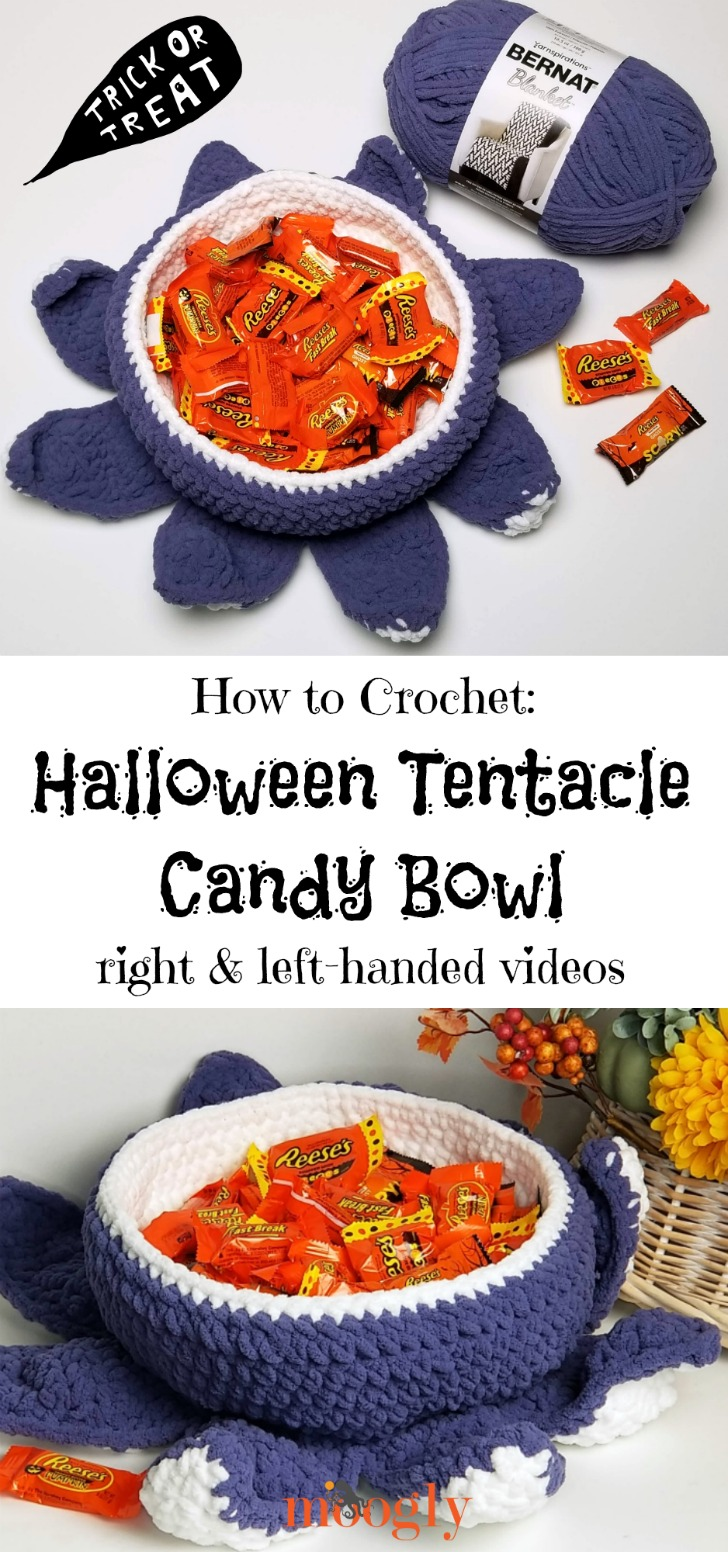 Halloween Tentacle Candy Bowl Tutorial Videos on Moogly!