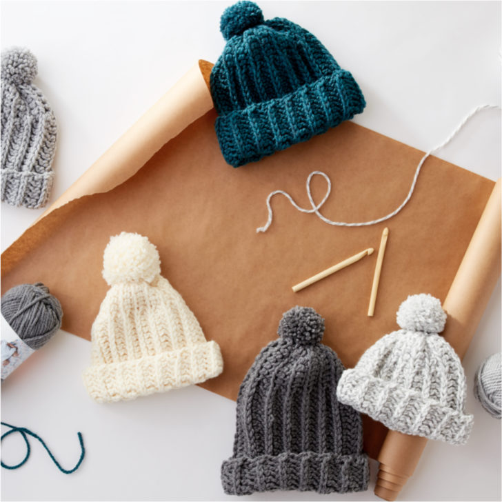 Learn to crochet this hat in a free Michaels class - with Moogly!