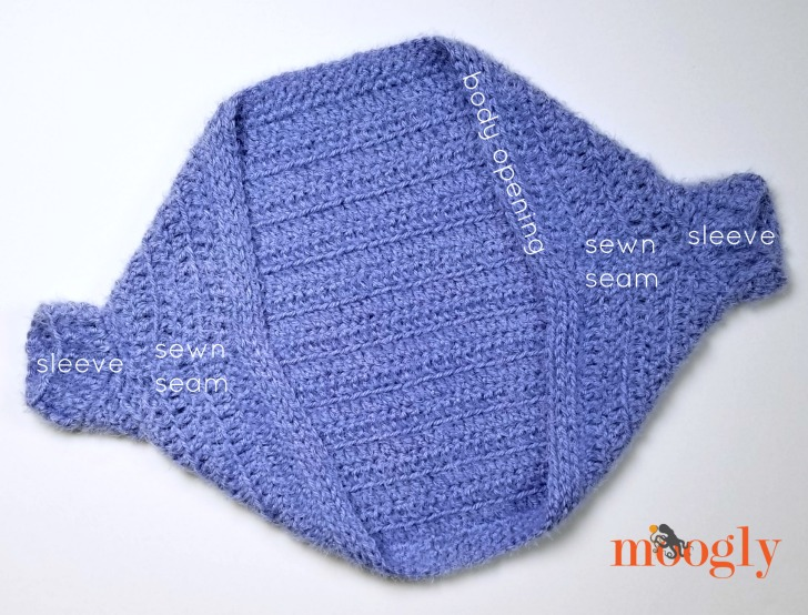 Hygge Girls Cocoon Cardigan assembly 2