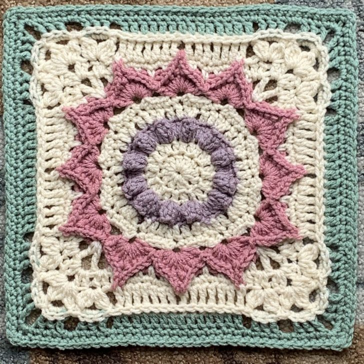 Serenity Now Afghan Block by Julie Yeager