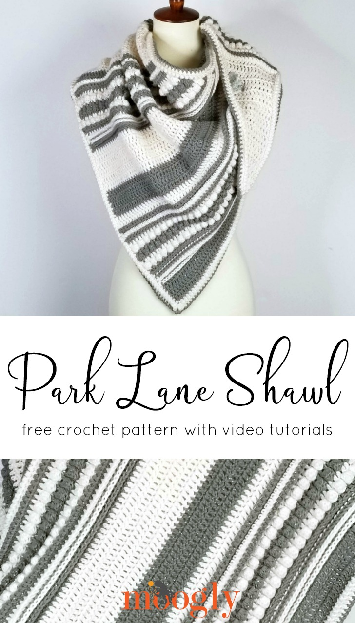 Park Lane Shawl - Free Crochet Pattern on Moogly