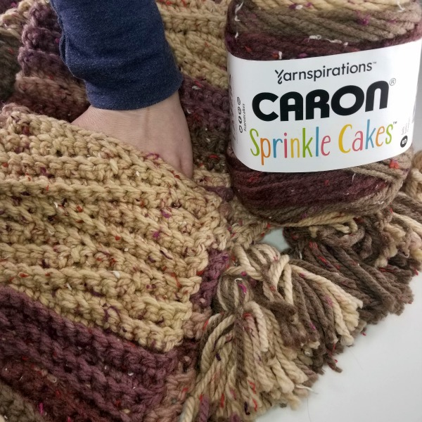 September 26 at 3pm CST - National Online Class Chunky Short Row Crochet Scarf The Great Caron Cake Off
