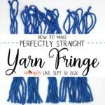 Moogly Live September 30, 2020 – How to Make Straight Yarn Fringe