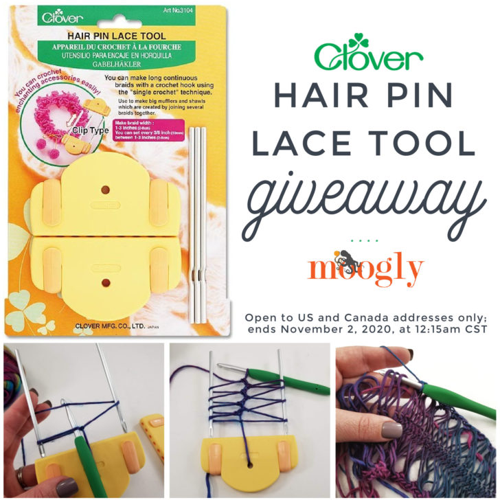 Clover Hair Pin Lace Giveaway on Moogly