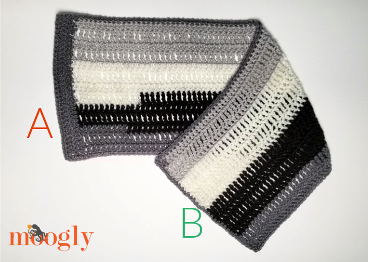 Easy One Skein Bandana Cowl - Assembly Step 2