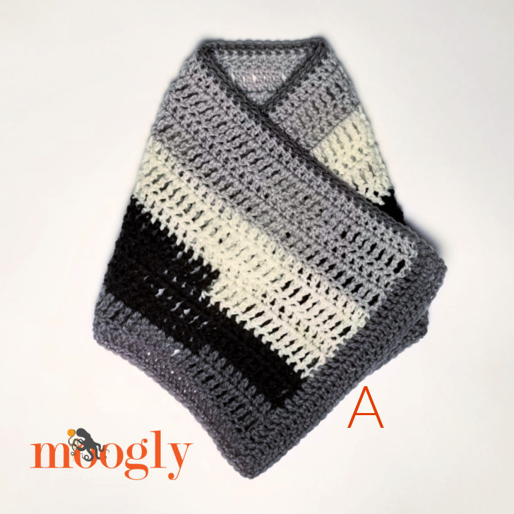Easy One Skein Bandana Cowl - Assembly Step 3