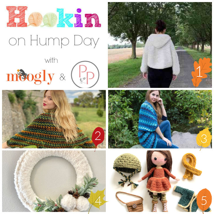 Hookin On Hump Day 225 Collage of Featured Patterns  - Moogly