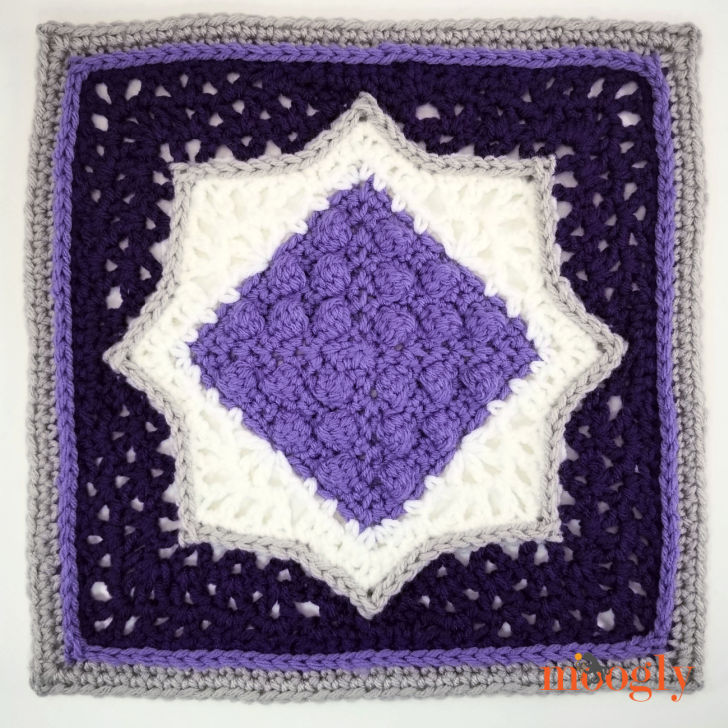 MooglyCAL2020 Block 21 is a fun and lovely square by Mamas2Hands! Texture and color combine - without too many ends! Read on for all the details, and for the link to Block #21 in this free year-long crochet along!