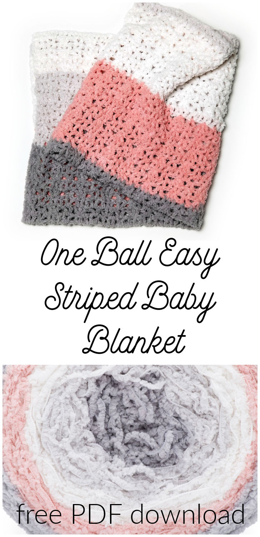 RH One Ball Easy Striped Baby Blanket