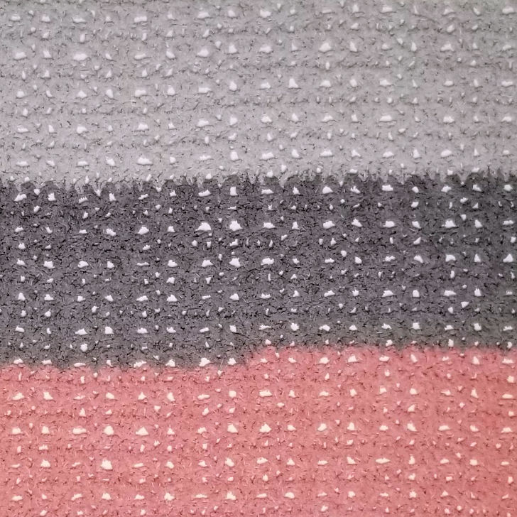 One Ball Easy Striped Baby Blanket - stitch closeup