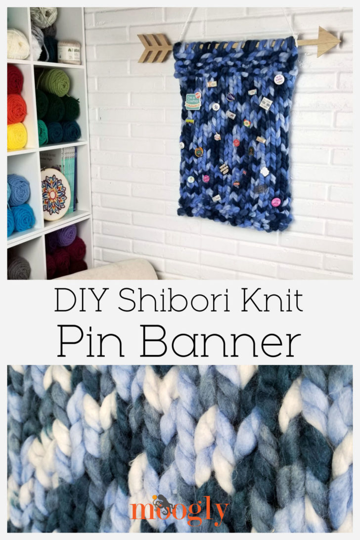Shibori Knit Pin Banner Pinterest Collage Image