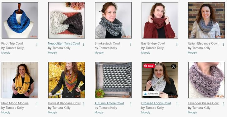 Moogly Cowl Patterns - all free patterns!