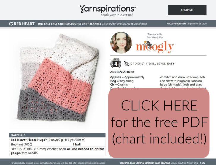 Red Heart Fleece Hugs - free PDF pattern on Yarnspirations!