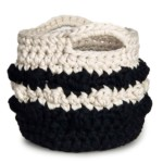 Bernat Bobble Stripe Crochet Basket