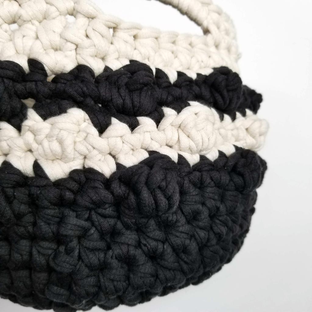 Bobble Stripe Basket - Home Dec - stitch closeup