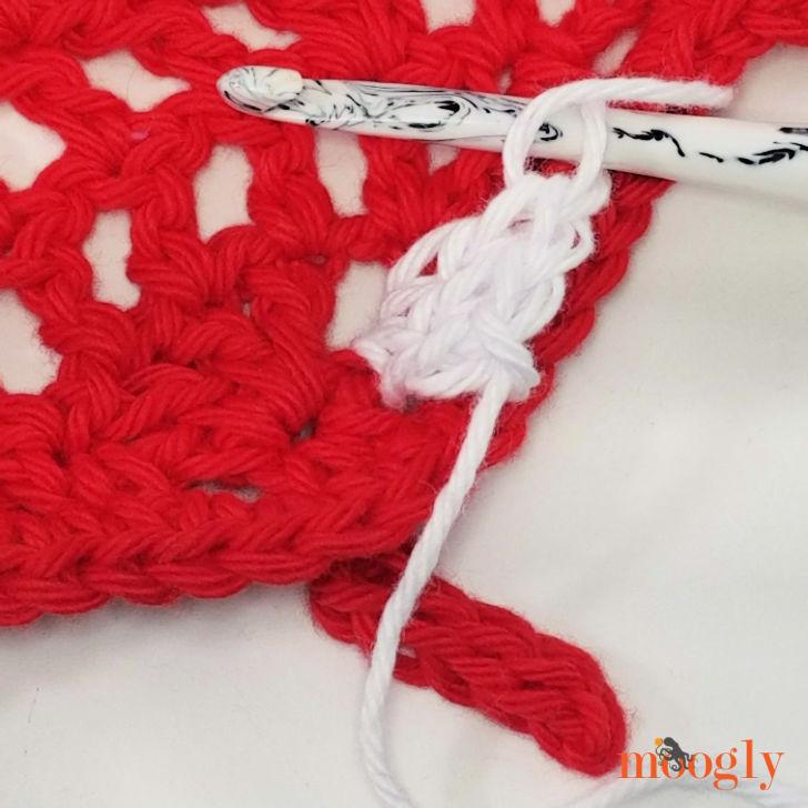 Leaf Wiggle Trivet - Starting the Wiggles