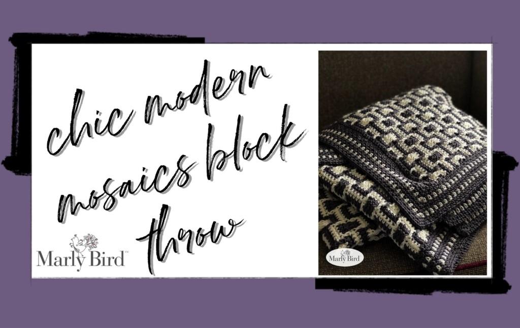 Mosaics block throw