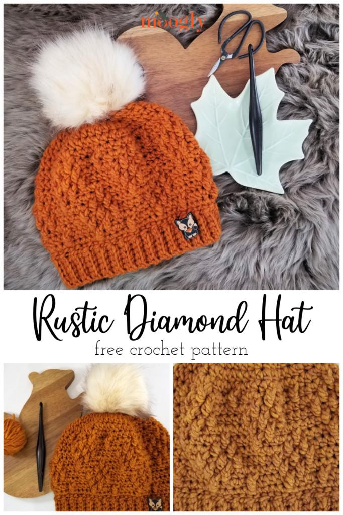 Rustic Diamond Hat Pinterest Collage