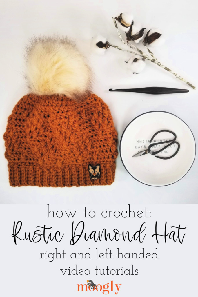 How to Crochet the Rustic Diamond Hat - Pinterest Collage