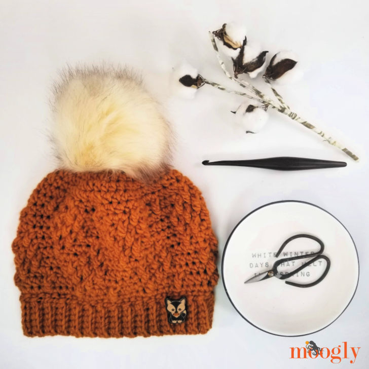 Rustic Diamond Hat with scissors in a bowl, hook, and cotton