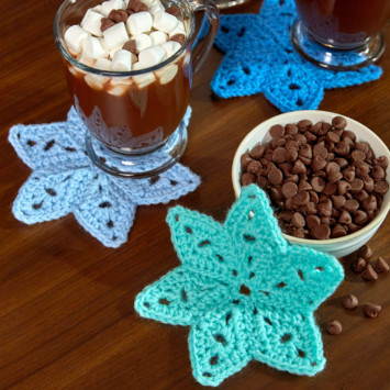 Red Heart Star Coasters