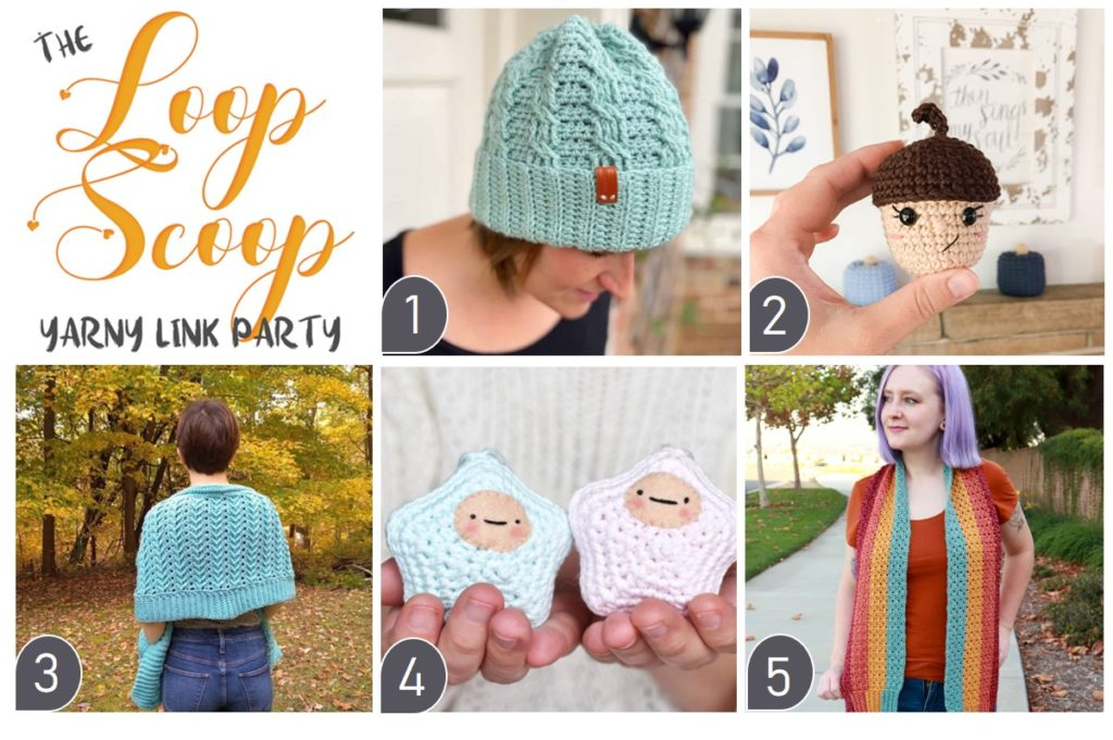 The Loop Scoop 1 - Yarny Link Party Collage of Featured Projects