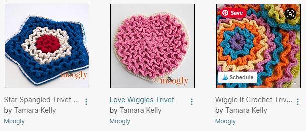 Wiggle Trivet Patterns on Moogly