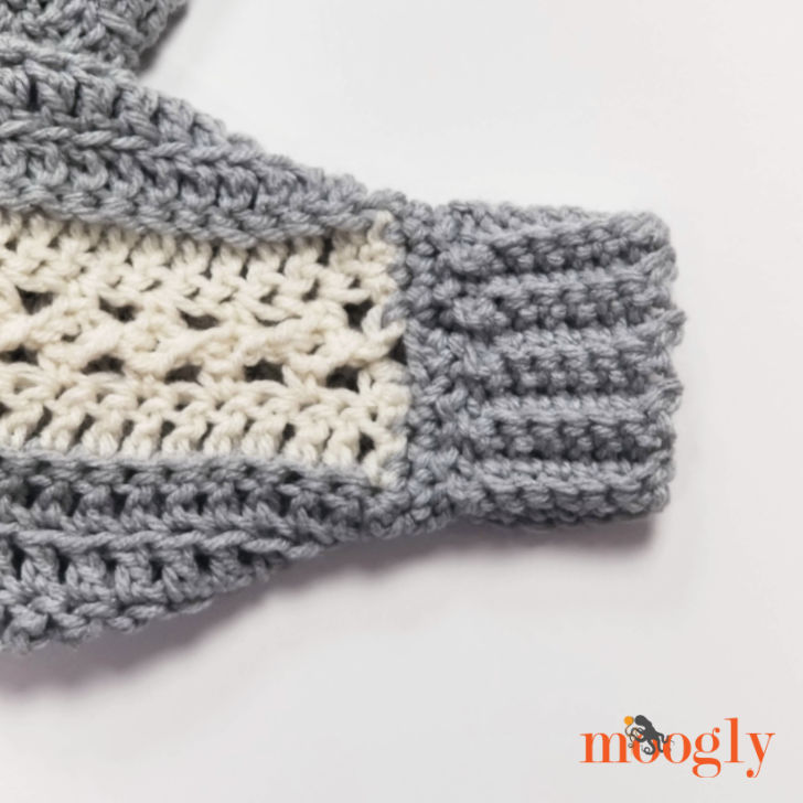 Batwing Lace Sweater - cuff detail closeup