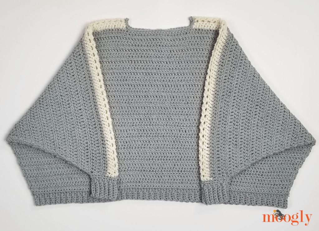 Batwing Lace Sweater - flatlay, folded