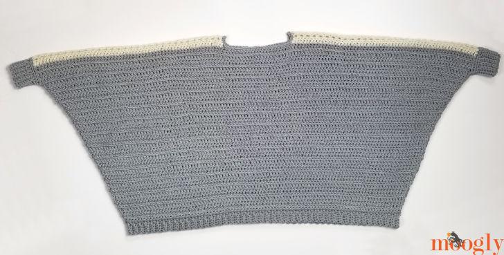 Batwing Lace Sweater - flatlay