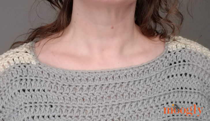 Batwing Lace Sweater - neckline closeup