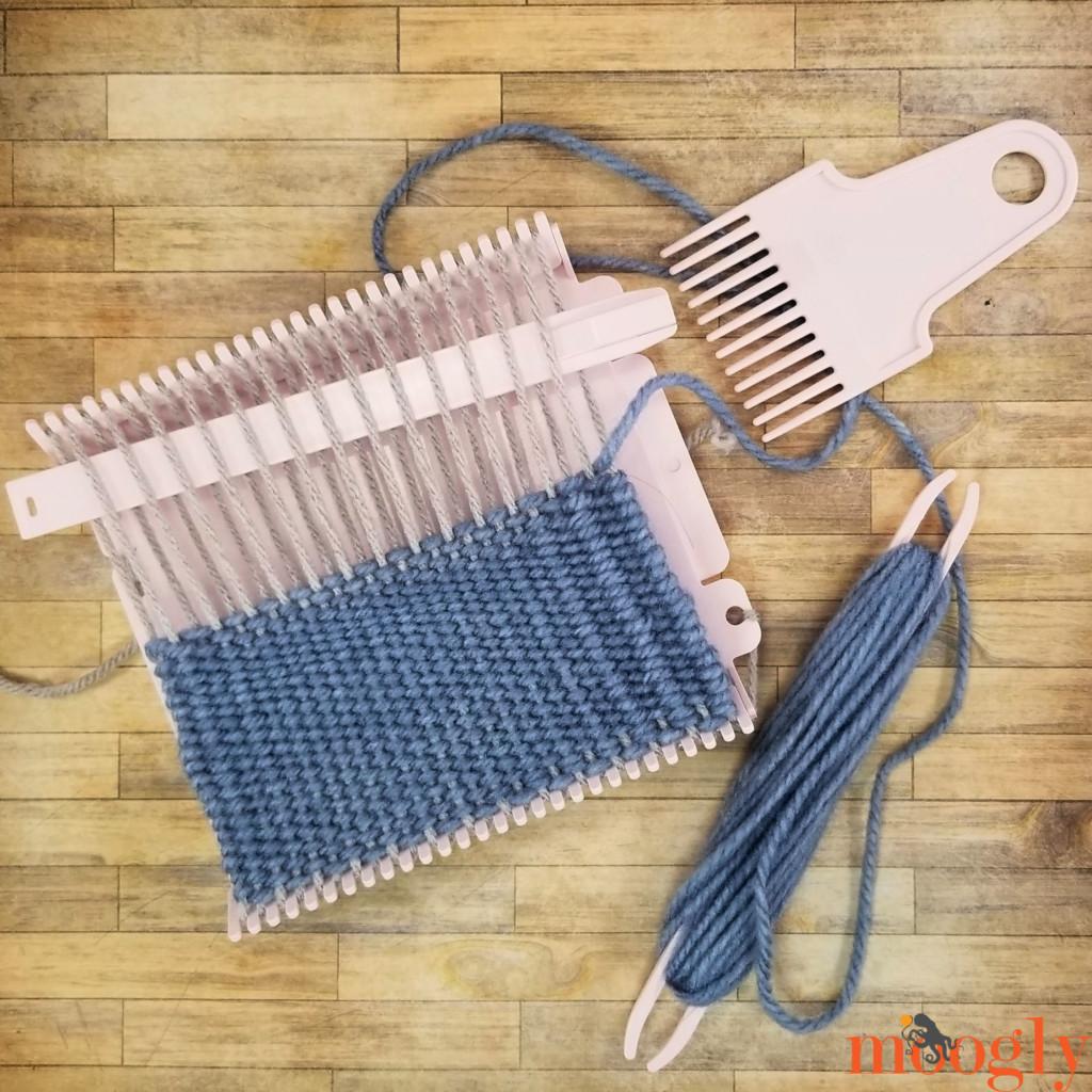 Clover Mini Weaving Loom - half done