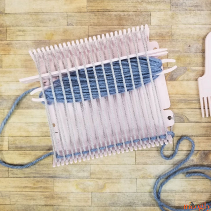 Clover Mini Weaving Loom - second pass