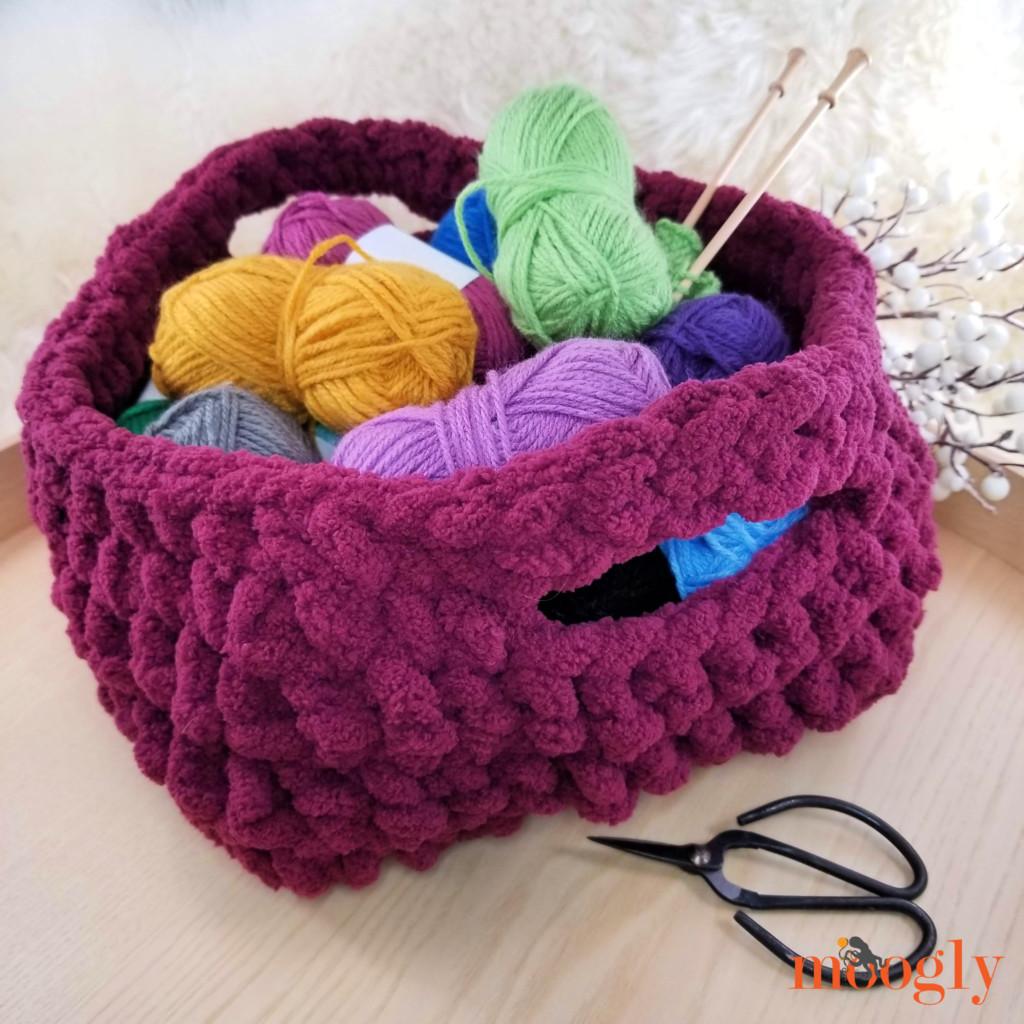 Emergency Crochet Basket Tutorial on Moogly