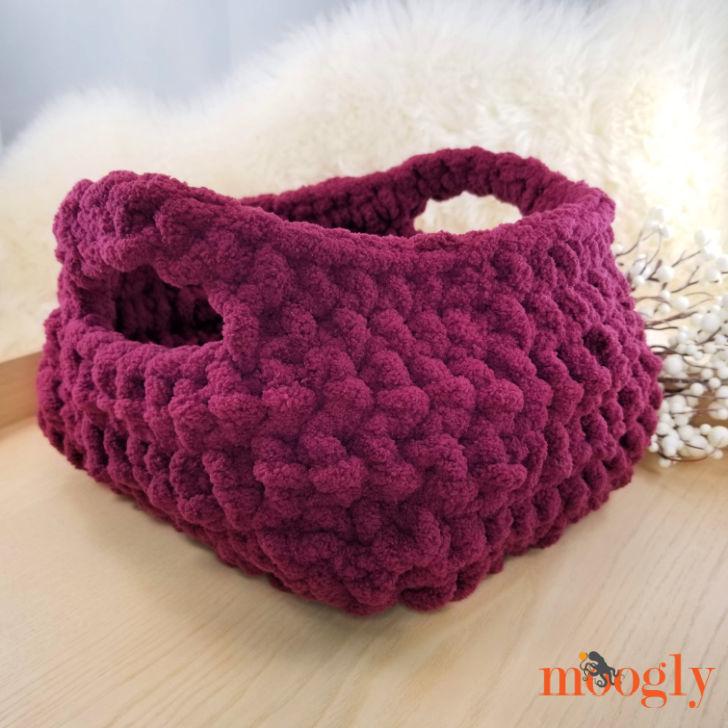 Emergency Crochet Basket, empty