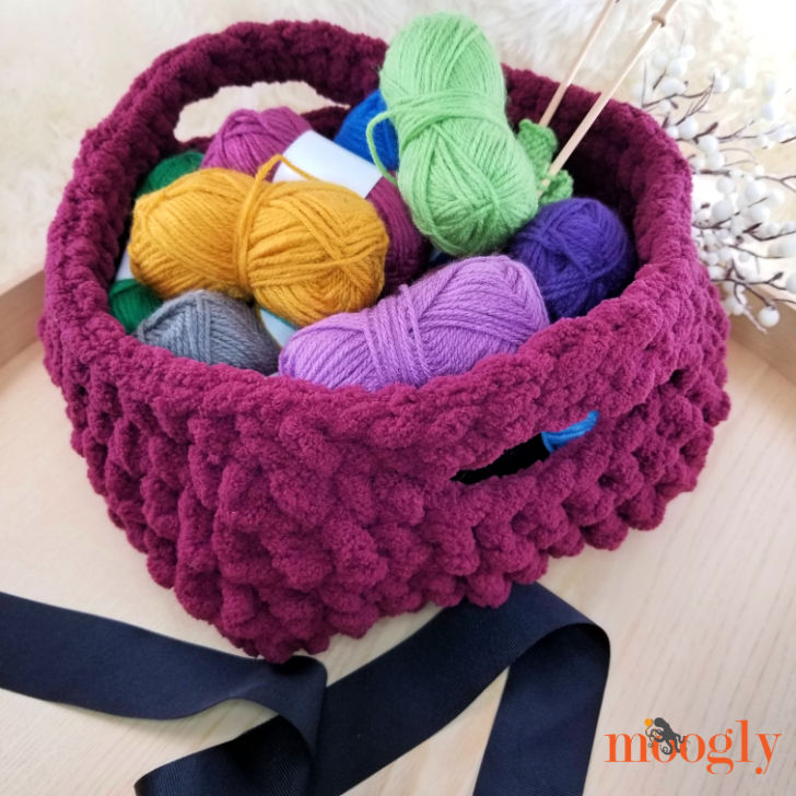 Emergency Crochet Basket - pattern on Moogly