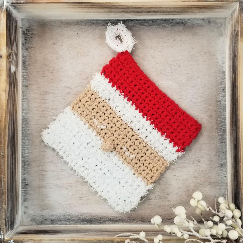 Santa Cloth Crochet Dishcloth