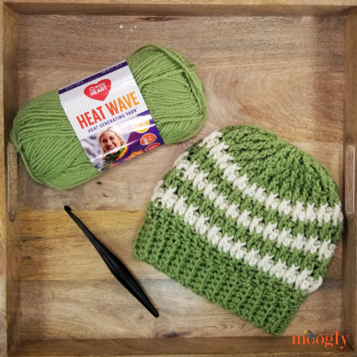 Alpine Stripe Beanie - Free Crochet Pattern on Moogly