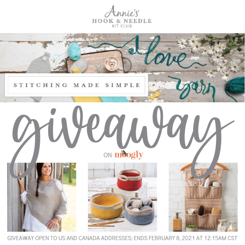 Annie's Hook and Needle Kit Club Giveaway on Moogly, January 2021