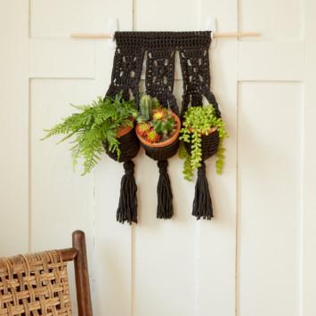 Crochet Hanging Plant Trio
