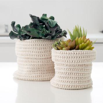 Slouchy Crochet Plant Holders