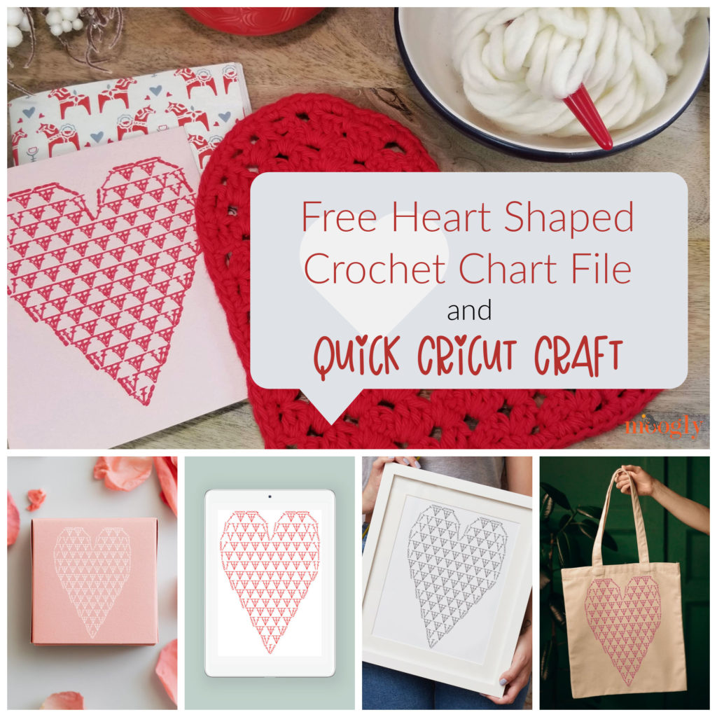 Free Heart Shaped Crochet Chart File on Moogly