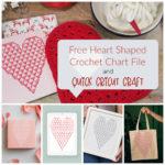 Free Heart Shaped Crochet Chart: Quick Cricut Craft