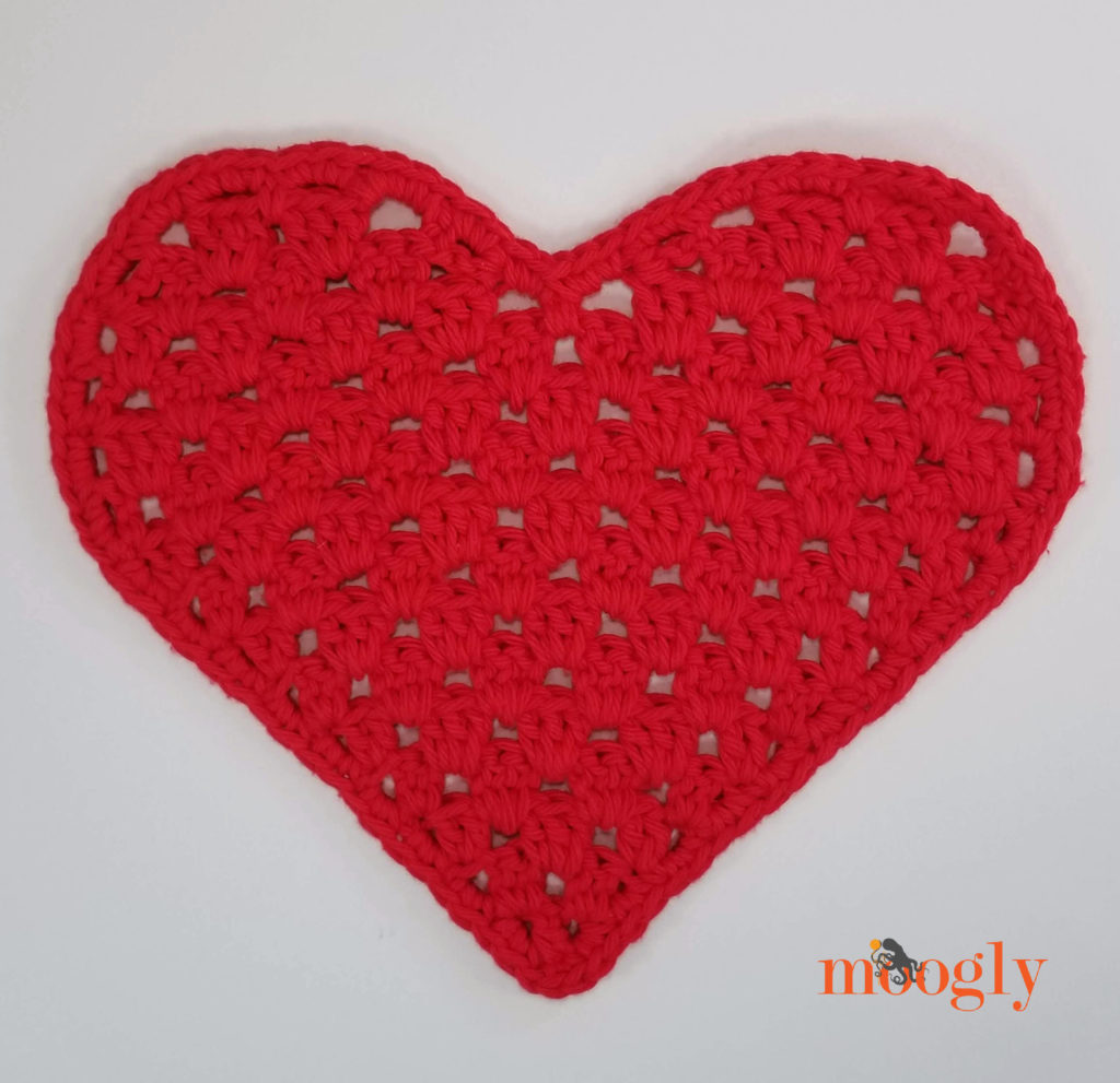 Heart Shaped Cloth - white background