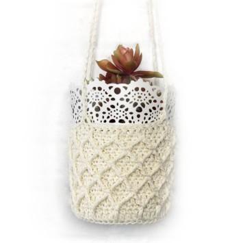 Hemp Crochet Plant Hanger